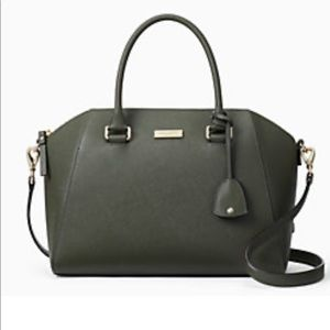 Olive green Tilden place pippa bag from Kate Spade